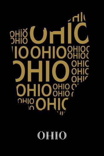"""Ohio: Writing Journal to Write In, Lined Notebook, State of Ohio Map Art Print, Blank Book, 6"""" x 9"""", 128 pages"""