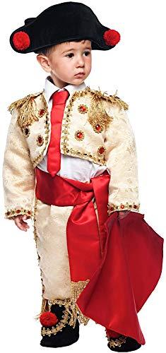 Carnevale Venizano CAV50710-3 - Kleinkindkostüm TORERO MANOLETE NEONATO - Alter: 0-3 Jahre - Größe: 3
