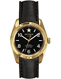 University Sports Press EX-S-LIN-38-CL-BL - Reloj de cuarzo unisex, correa de cuero color negro