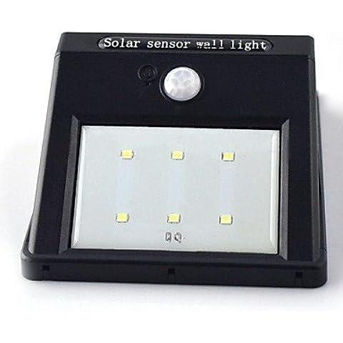 GYX moto solare luce sensore 6 ha condotto pir sicurezza lampada da parete capannone (Capannone All'aperto)