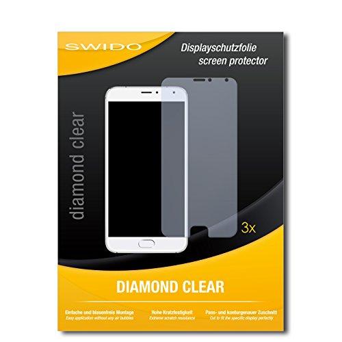 3 x SWIDO® Schutzfolie Meizu Pro 5 Bildschirmschutz Folie
