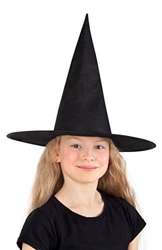 hut Ursula für Kinder, Einheitsgröße, schwarz (Witch Mädchen Halloween-make-up)