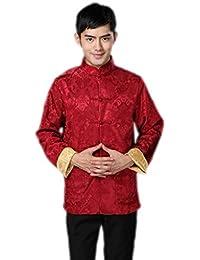 JTC Mens Classic Tai Chi Top Kung Fu Jacket Chinese Shirt Black & White