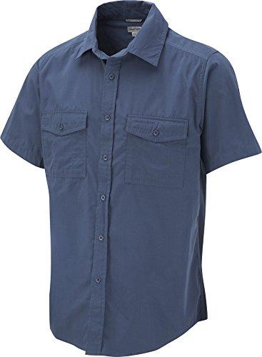 Craghoppers Kiwi-Maglia estiva da uomo, elegante, per adulti, con tasca frontale, Maglietta a maniche corte Indaco effetto sbiadito