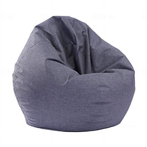 BeanBag Sitzkissen Lustig Bedruckte Gaming Sitzsack mit Füllung Außensitzsack Hohem Rückenteil Erwachsene und Kinder Sitzsäcke Relax Game Möbel 100 x 120 cm,Grau