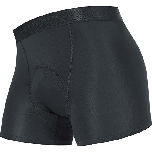 GORE BIKE WEAR Damen Unterzieh-Shorty, Integrierter Sitzpolster, Stretch, GORE Selected Fabrics, BASE LAYER LADY Shorty+, Größe: 40, Schwarz, UBRIET (Bike-shorts Damen)