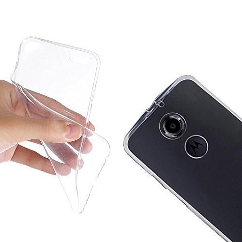 Silikon Case Handytasche für Motorola Moto X (2. Generation) (transparent) - EximMobile