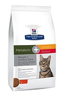 Hill's Prescription Diet Feline Gestion du Poids & Santé Urinaire Stress Nourriture pour Chat Croquettes 1,5kg
