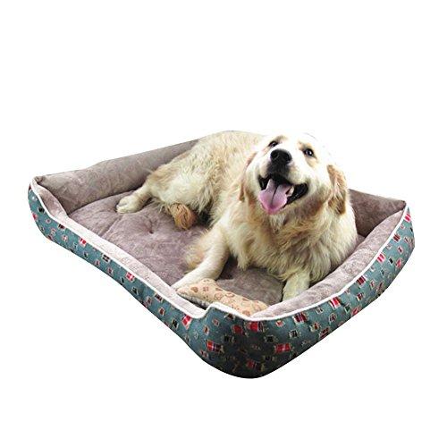 Ultra Weicher Plüsch Luxuriöse Hundebett Haustierbett für Katzen Hunde Rechteck Haustier-Schlafsack Maschine Waschbar Grau 1