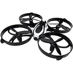 TOZO® Q2020 Drone RC Quadcopter Altitud Hold RTF sin cabeza 3D 360 grados y volteos 6-Axis Gyro 4CH 2.4Ghz de control remoto de altura del helicóptero mantenga constante Fly Super fácil para el entrenamiento. Negro