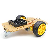YIKESHU 4 ruote Robot Smart Car Chassis Kit modello auto con encoder di velocità per Arduino (EN03-2-UK)