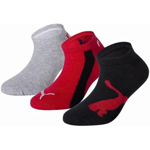 Puma 204202001 - Calcetines cortos para niños, conjunto de 3, color negro, talla 35-38