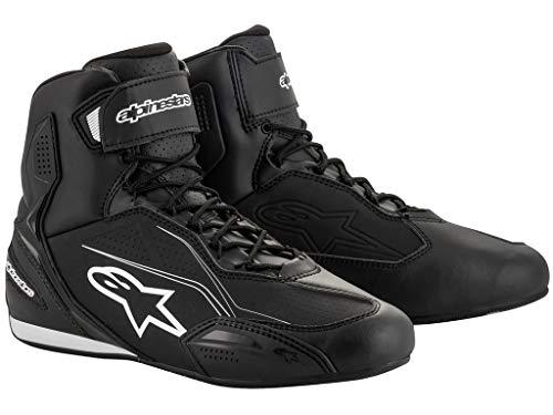 Alpinestars Motorradschuhe, Motorradstiefel kurz Faster 3 Schuh schwarz 45, Herren, Sportler, Ganzjährig, Leder/Textil