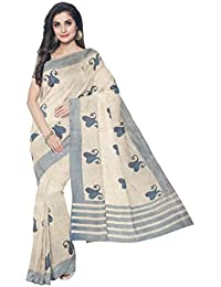 Sakhi Womens Blended Tussar Saree_IMR-2377_Multi-coloured_Free Size