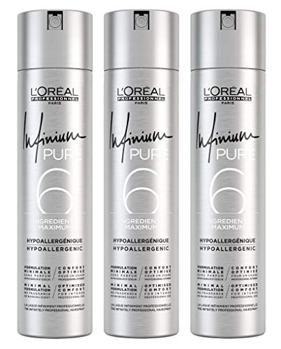 3er Infinium 6 Pure Extra Strong Hairspray Loreal Professionnel 300 ml