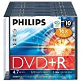 10 x DVD+R - 4.7 GB 16x - Slim Jewel Case - Speichermedium
