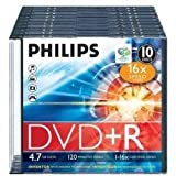 Philips 4,7 Gb Dvd + R / 120Min / 16X Slimcase (10 Disc)