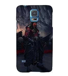 Fuson Designer Back Case Cover for Samsung Galaxy S5 :: Samsung Galaxy S5 G900I :: Samsung Galaxy S5 G900A G900F G900I G900M G900T G900W8 G900K (The Devil With Red Eyes)