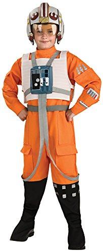 Wing X Kind Kostüm Pilot - Star Wars Xwing Pilot Kinder Kostüm - S - ca. 116cm