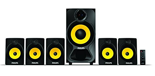 Philips Heart Beat SPA-3800B 5.1 Channel Home Theater System (Black/Yellow)