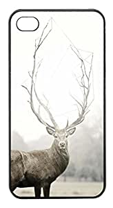 Coque Iphone 4/4S - Cerf dans brume - Ref 373