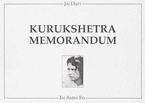 Kurukshetra memorandum (La via del guerriero di luce) por G. Paolo Jai Datt Barberis