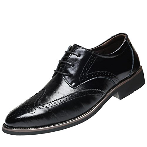 SOMESUN Herren Geschäft Schnürhalbschuhe Mode Einfarbig Spitz Zehe Flache Ferse Büro Formal Lederschuhe Weich Gemütlich Atmungsaktiv Rutschfest Beiläufig Freizeit Schuhe (EU42/CN43, - Frauen Schuhe Vintage Nike