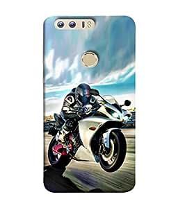 PrintVisa Designer Back Case Cover for Huawei Honor 8 (Track Sky Closeup Track Lap )