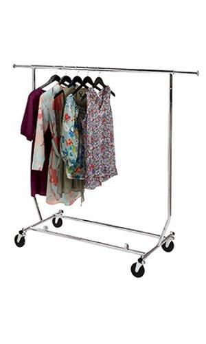 Commercial Garment Rack (klappbar Single Rail Rolling Verkäufer Commercial Garment Rack)