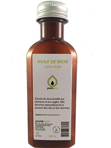 Huile végétale de RICIN pressée à froid- 100% PURE 100ml