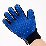 #5: True Touch Deshedding Glove Brush for Dogs and Cat