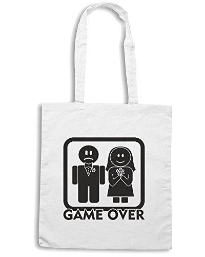 T-Shirtshock - Borsa Shopping T0004 GAME OVER Bianco