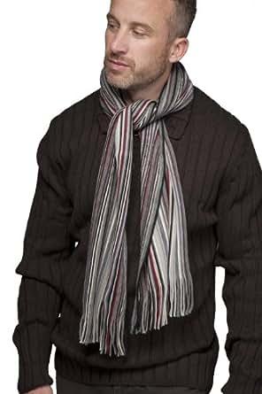 Mens SockShop Multicoloured Stripe Scarf - One Size - Grey