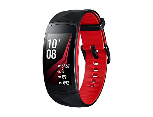 Samsung Gear Fit2 Pro Smartband, Red (Large), GPS, Impermeabile 5 ATM [Versione Italiana]
