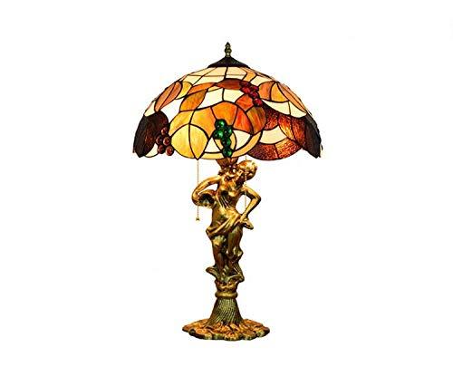 QCKDQ Lámpara de Mesa Estilo Tiffany de 16 Pulgadas, lámpara de Mesa...