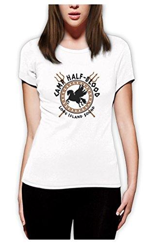 Camp Half Blood Gods Frauen Weiß Small T-Shirt Slim Fit