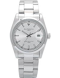 [Isaac Valentino] izax Valentino reloj todos los acero inoxidable Bar índice plata ivg-