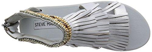 Steve Madden Giaani Fringe Sandale Silver