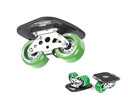 TWOLIONS Drift Skates,Skates Aluminum Alloy Drift Roller Skateboard,mit 72mm PU Räder und ABEC 7 Kugellager (links & rechts) (Green)
