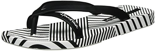 Ipanema Damen Fashion Kirey IV Fem Zehentrenner, Mehrfarbig (White/Black), 43 EU
