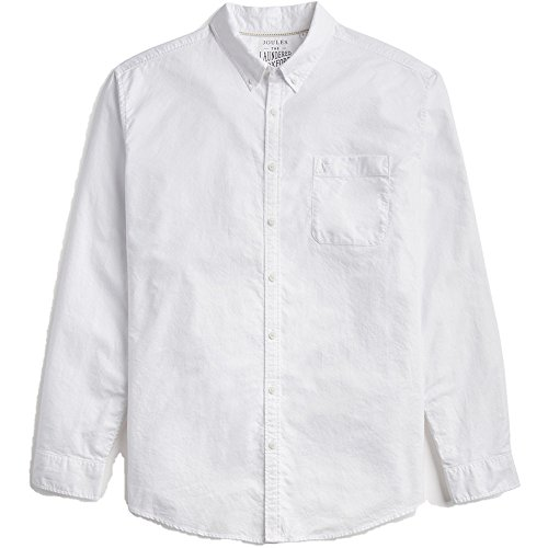Joules Mens Laundered Long Sleeve Classic Fit Oxford Cotton Shirt -