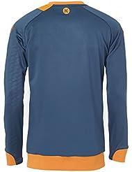 Kempa pico de Entreno suéter niños petrolblau (azul/naranja), color  - petrol/orange, tamaño 164