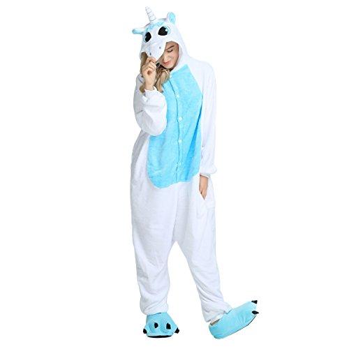WhiFan Einhorn Adult Pyjama Cosplay Tier Kostüm Onesie -