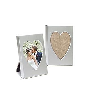 Lywedd® Bilderrahmen Herz Herzbilderrahmen Tischkartenhalter Platzhalter Gastgeschenk