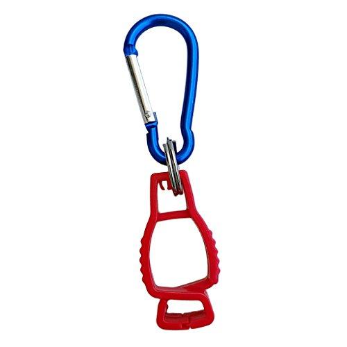 T TOOYFUL Golfer Diver Glove Clip Worker Handschuhe Guard R Work Clamp Sicherheitshalterung - Rot