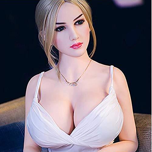 ZRB Lebensecht Sexpuppe Liebespuppen Silikon Aufblasbare Puppe Männliche Masturbation 165Cm 3D Echt mit Brüste Arsch Vagina Anal Stark Absaugung Für Männer Erwachsene Sex Spielzeug