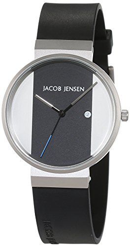 JACOB JENSEN UNISEX-RELOJ JACOB JENSEN NEW SERIES ITEM NO  712 ANALOGICO DE CUARZO DE CAUCHO JACOB JENSEN NEW SERIES ITEM NO  712