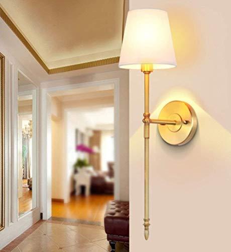 Klassische Verstellbare Wand (FJTXC Exquisite Economy Energy Lamp Verstellbare Wand - Nachttischlampe House Country minimalistisch klassisch warm für Ganzen Korridor Front-TV-Wandspiegel Dauerlicht Kupfer (Nicht Lichtquelle) (F)