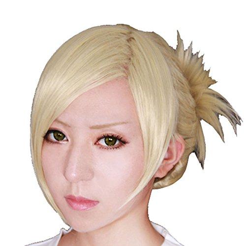 Xcoser AOT Annie Leonhart Perücke Attack On Titan Anime Cosplay Kostüm Wig Kurz Golden Haar (Aot Kostüm Cosplay)