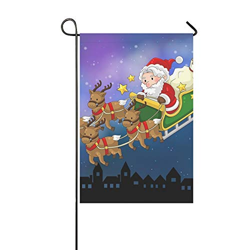 Engel Kostüm Haustier - JOCHUAN Wohnkultur Cartoon Weihnachtsmann Auf Haustier Rentier Garten Flaghouse Yard Flaggarden Yard Decorationsseasonal Willkommen Outdoor Flagge 12X18 Zoll